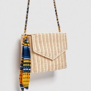 Handbags - ZARA Wicker envelope bag